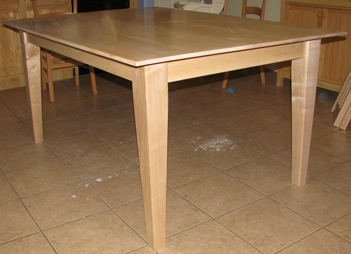 maple kitchen table grey island finewoodworking