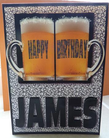 Happy Birthday James Black CUP173552 750 Craftsuprint