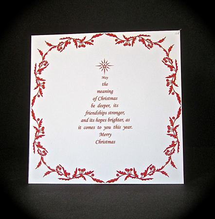 8x8 Christmas Insert Amp Verse 2 In Red Christmas Tree Shape