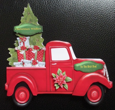 Red Christmas Truck Shaped Card CUP8186402362