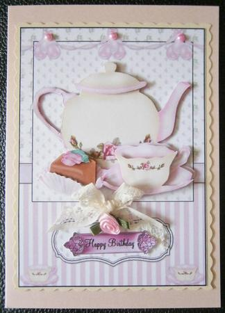 Afternoon Tea Card Front And Decoupage CUP409146 38