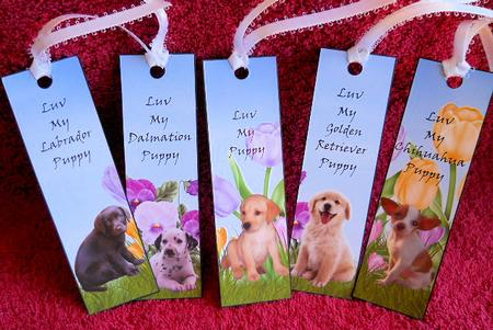 5 Very Cute Puppy Bookmarks CUP511132986 Craftsuprint