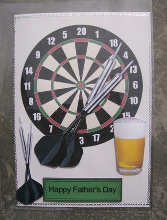 Father's Day Darts & Dartboard CUP87413 831 Craftsuprint