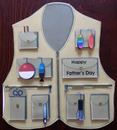 Fishing Vest Shaped Card Kit CUP5409452038 Craftsuprint