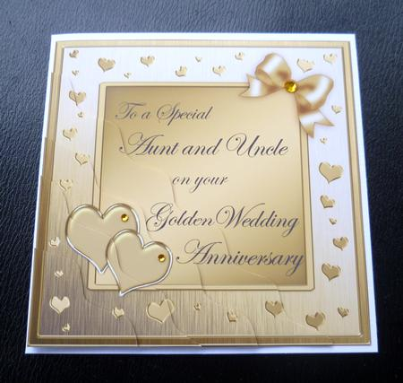 Aunt Amp Uncle Golden Wedding Anniversary Side Stacker