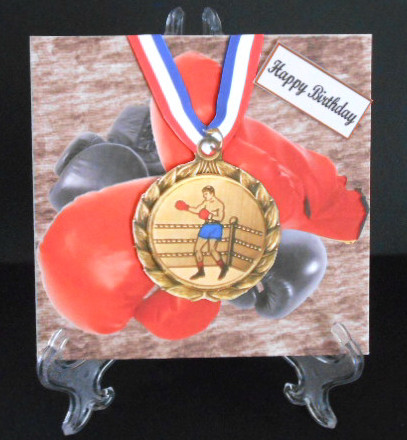 Boxing Birthday Card Topper & Decoupage CUP429320 1865