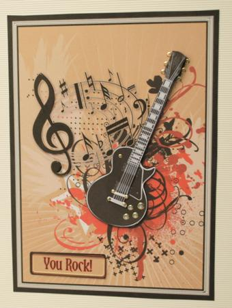 Guitar And Music Decoupage CUP102391 425 Craftsuprint