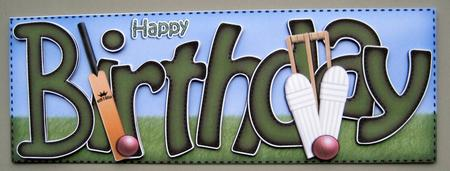 Birthday Cricket Large Dl Sports Quick Card N 3D Decoupage