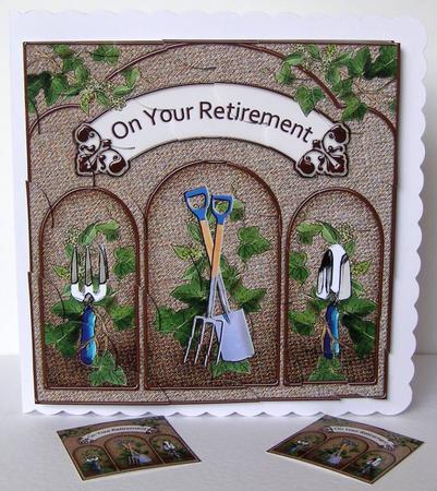 8 X 8 Gardening Retirement Scalloped Corner Kit