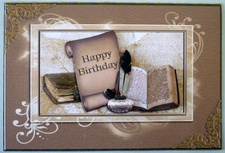 Old Books Birthday Card CUP242894 1065 Craftsuprint