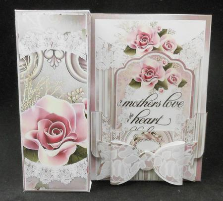 Elegant Mothers Day All In One Gift Box Card Bow Amp Tag