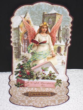 Victorian Pop Up Christmas Angel With Church CUP462678