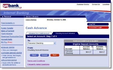 U S Bank Adds Payday Loans To Online Banking Finovate
