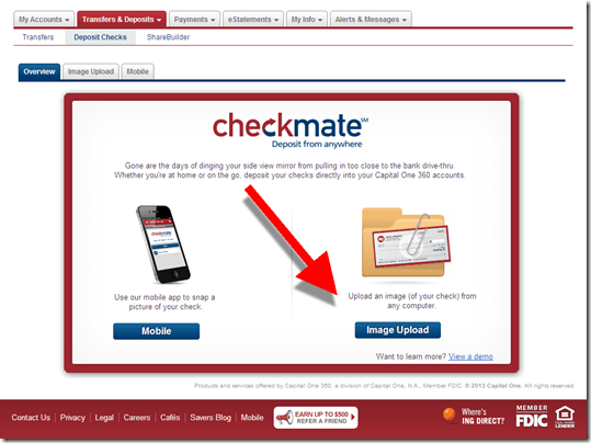 Feature Friday Capital One 360 Offers Remote Check