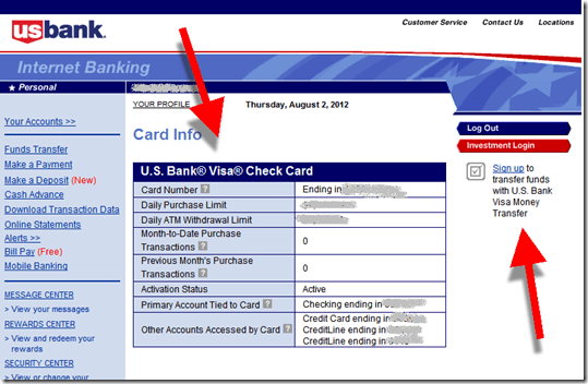 Us Bank Adds Debit Card Section To Online Banking Finovate