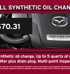 full synthetic oil change mazda special coupon [ 1200 x 900 Pixel ]