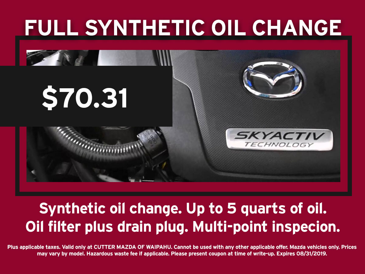 hight resolution of full synthetic oil change mazda special coupon