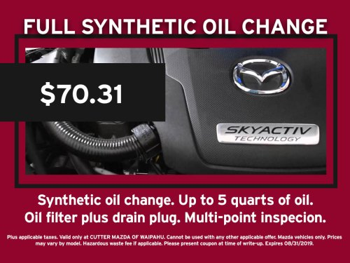 small resolution of full synthetic oil change mazda special coupon