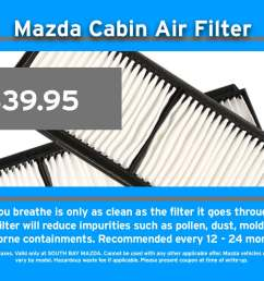 mazda air cabin filter replacement service [ 1200 x 900 Pixel ]