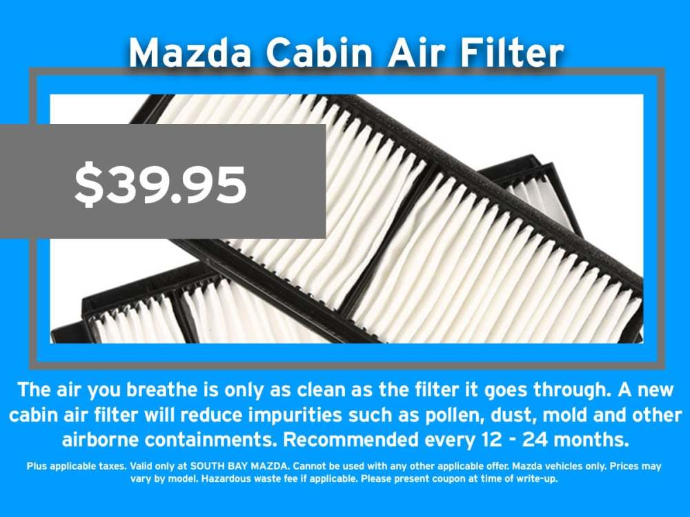 medium resolution of mazda air cabin filter replacement service