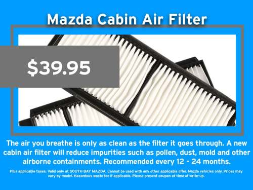 small resolution of mazda air cabin filter replacement service
