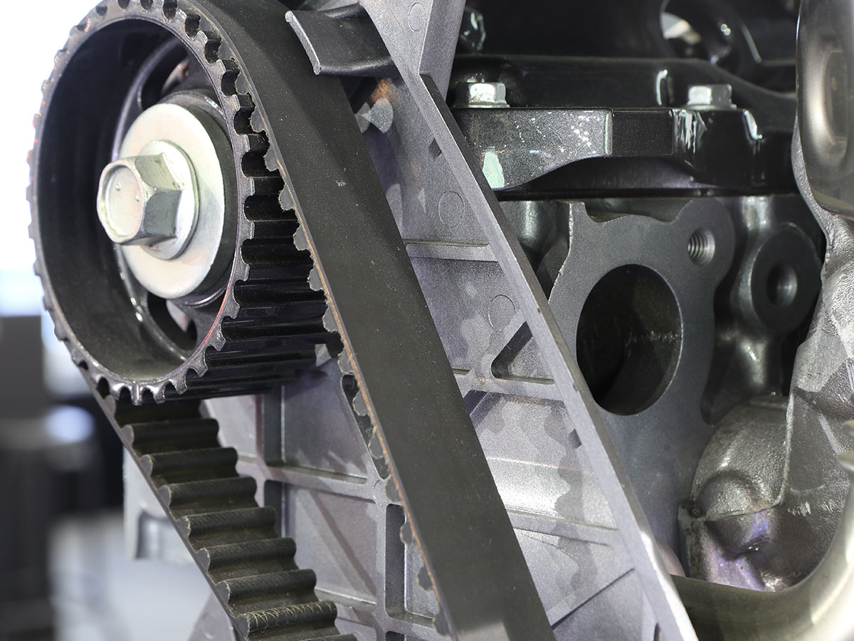 hight resolution of engine timing belt service