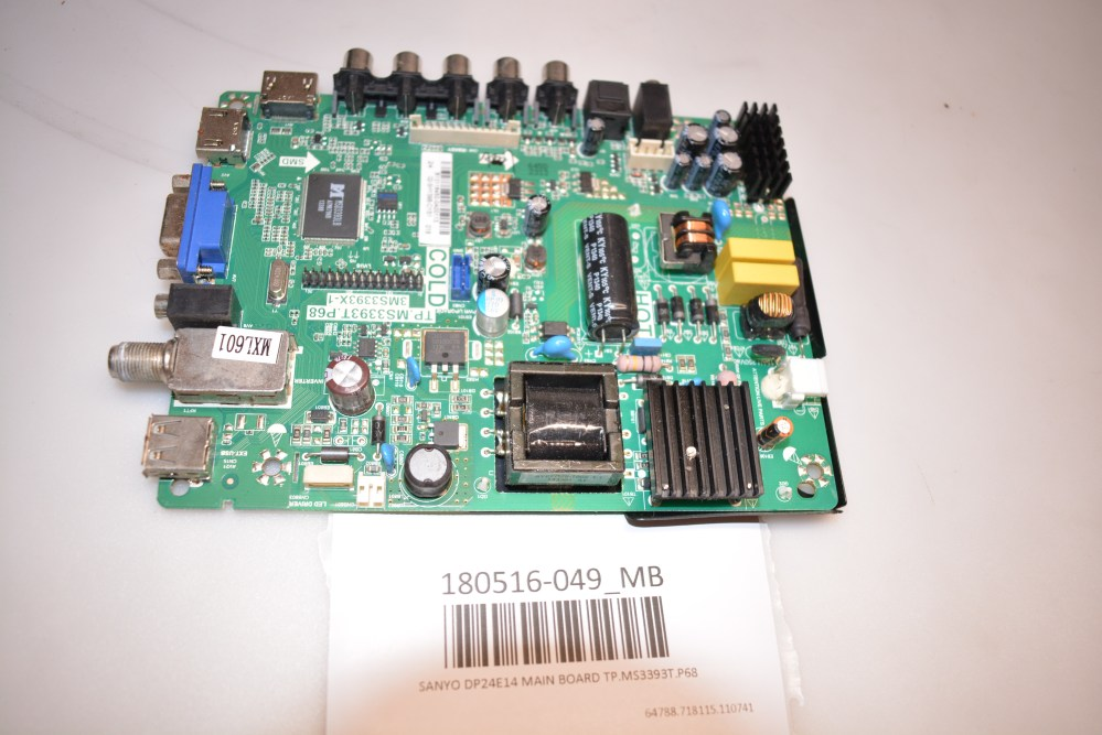 medium resolution of image is loading sanyo dp24e14 main board tp ms3393t p68