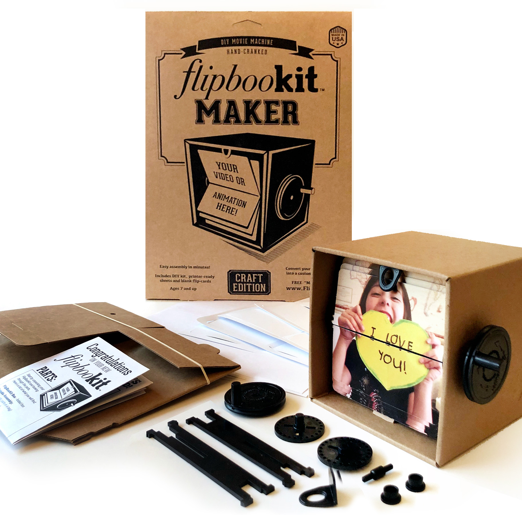 Flipbookit Maker Kit Craft – make your own flip book animation machine!