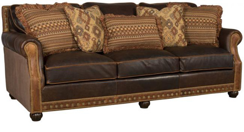down filled leather sectional sofa chair bed ikea julianna and fabric | 3000-lf king hickory ...