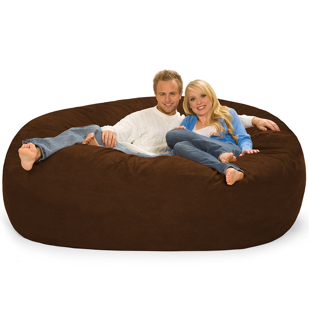 two person bean bag chair indoor hanging swing chairs big one lovesac giant love sack of foam