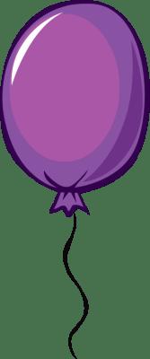 purple balloon - free clip arts