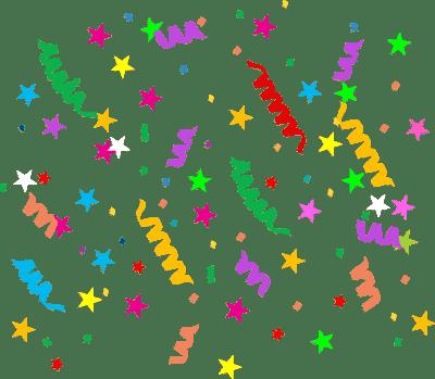 multicolored confetti - free clip