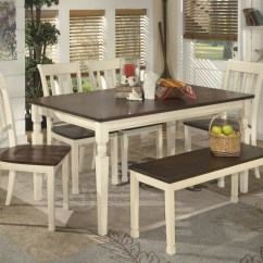 Just Chairs And Tables Kid Sized Whitesburg Rectangular Dining Room Table 4 Side Bench