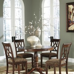 Upholstered Chairs For Dining Room Bedroom Hanging Egg Chair Leahlyn Round Table 4 D436 01 15b 15t