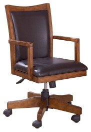 office chair on rent pink kitchen table and chairs cross island medium brown home swivel desk h319