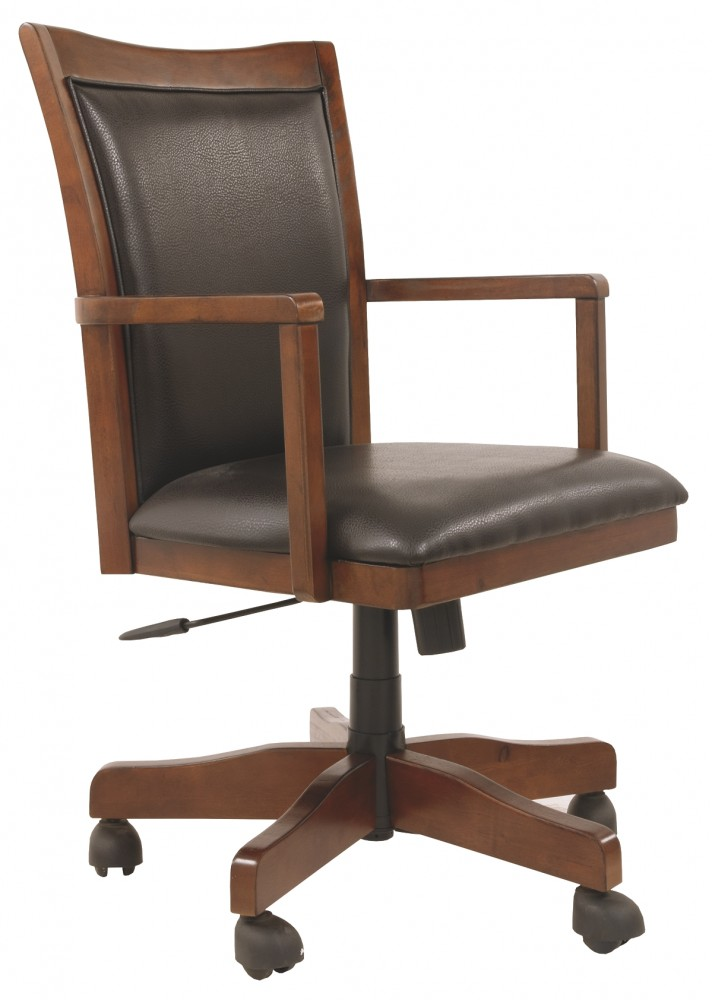 Home Office Desk Chairs Hamlyn Medium Brown Home Office Swivel Desk Chair