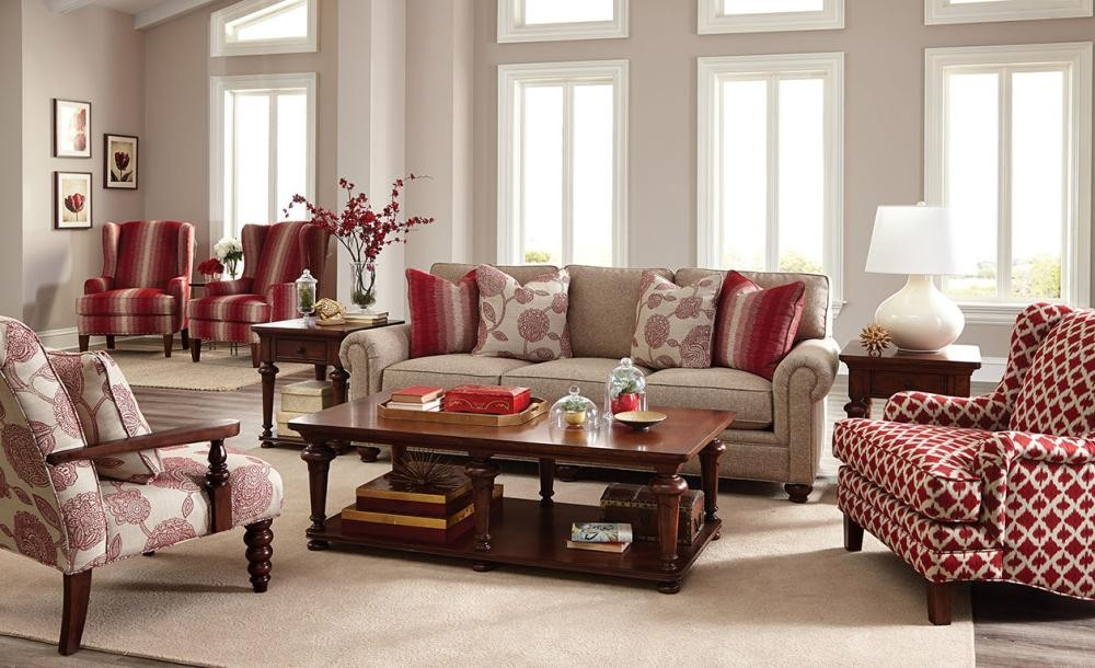 paula deen living room furniture collection sale craftmaster by stationary sofas three cushion click to expand