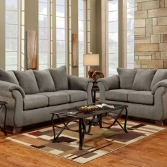 Gray Living Room Sets Small Space Ideas Sensations Grey Sofa And Loveseat 6700sensgrey National Mattress Furniture Warehouse