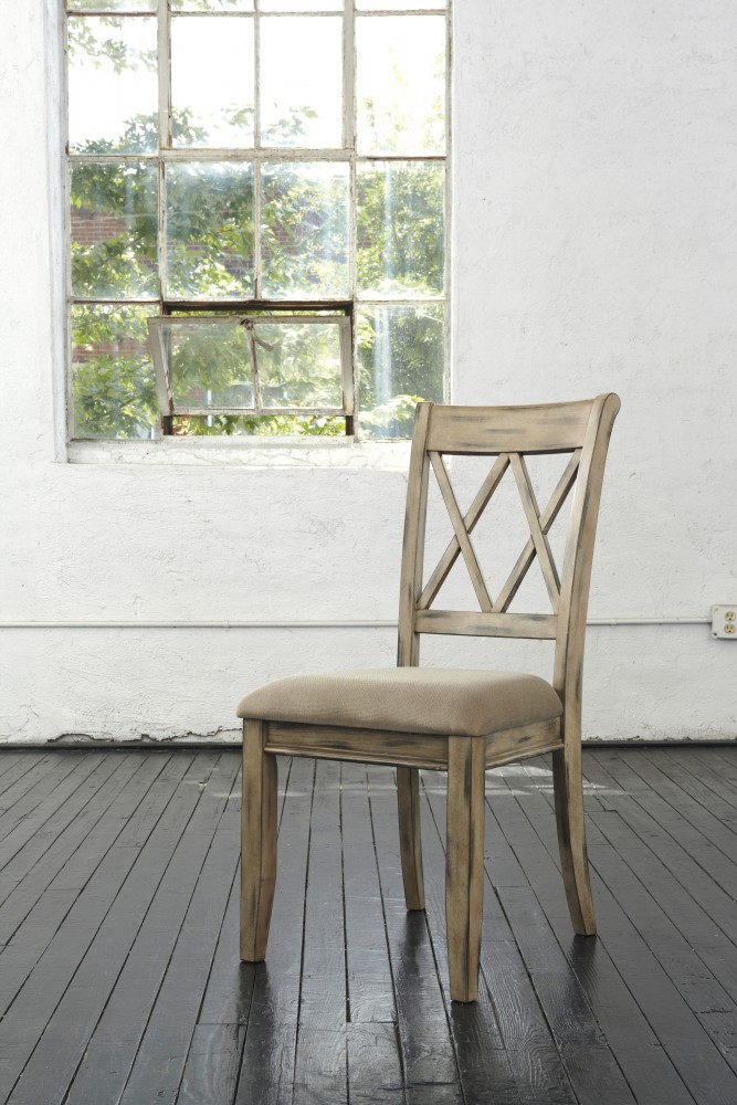 antique white dining chairs lazy boy chair and a half mestler uph side set of 2 d540 102 price busters furniture