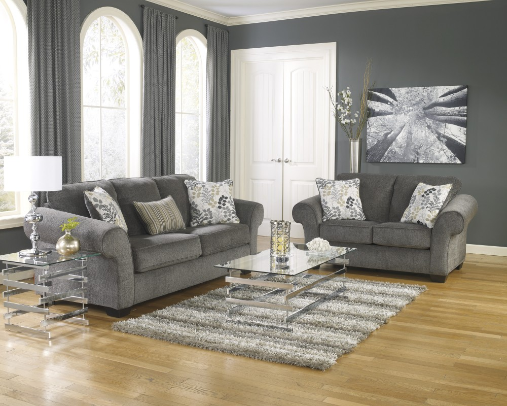 living room loveseats red flowers for makonnen charcoal sofa loveseat groups wayside