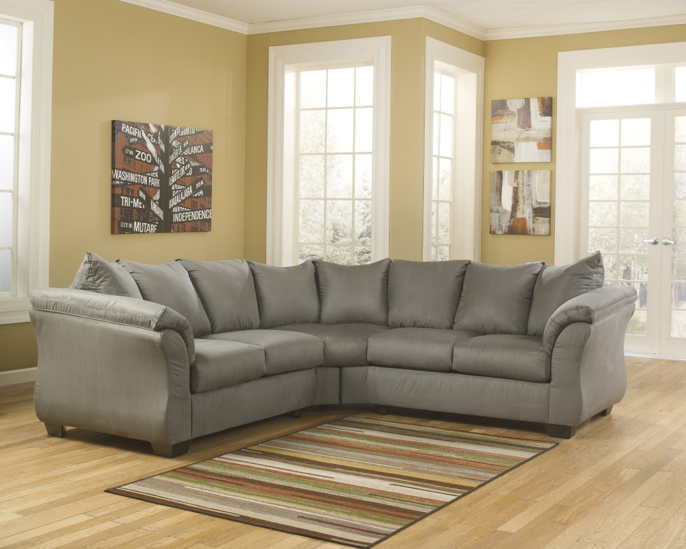 american furniture living room sectionals ideas tips darcy cobblestone 2 pc sectional 75005 55 56