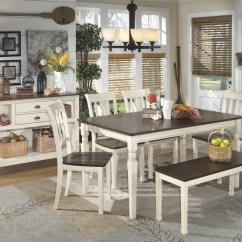 Kitchen Table Set With Bench Popular Flooring Whitesburg 4 Side Chairs D583 00 02 25 Dining