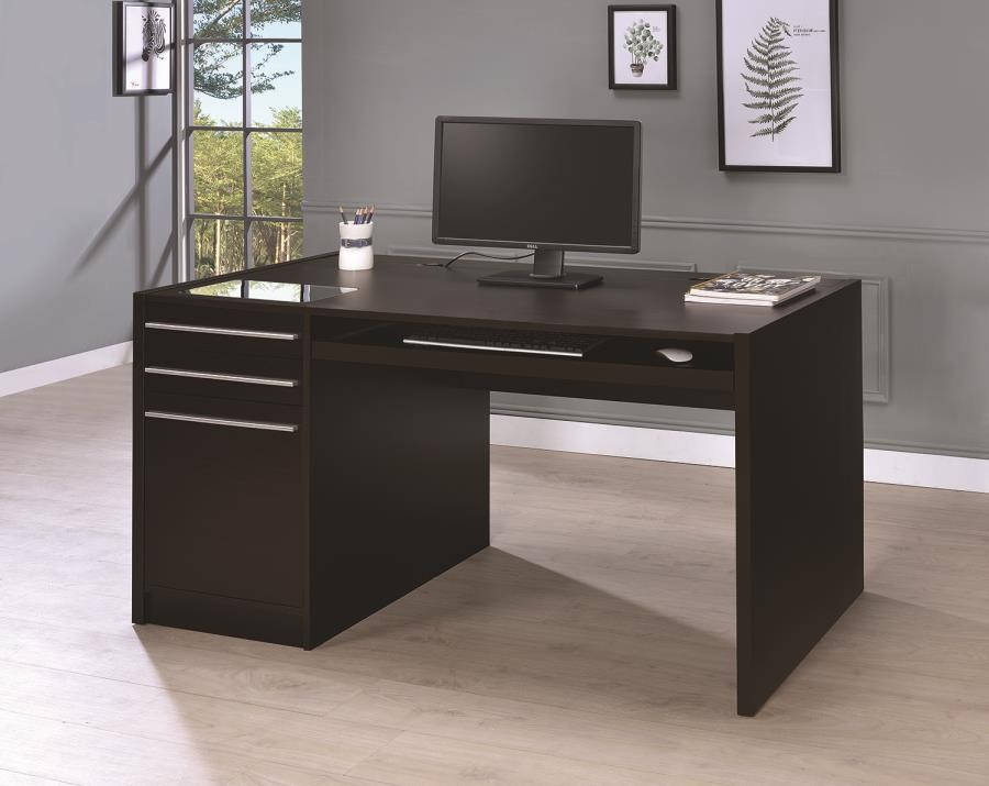 HOME OFFICE  DESKS  Contemporary Cappuccino ConnectIt