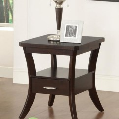 Living Room End Tables Fun Furniture Wood Top Occasional Table 702507