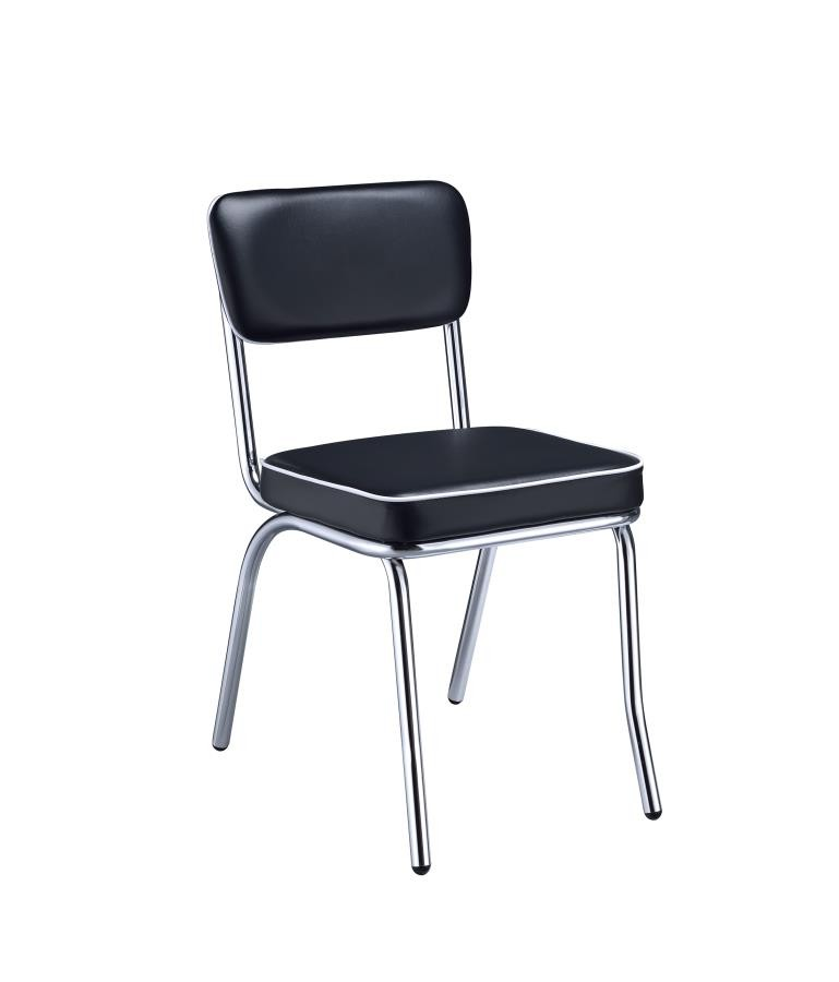 retro chrome chairs jazzy power chair battery collection dining pack of 2 2066 side