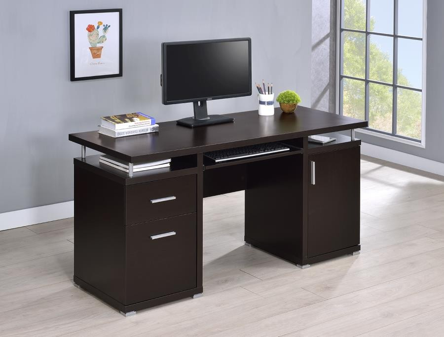 HOME OFFICE  DESKS  Contemporary Cappuccino Computer