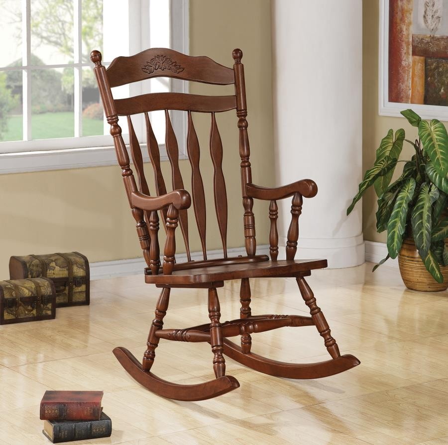 Rocking Chairs Living Room Rocking Chairs Traditional Medium Brown Rocking Chair