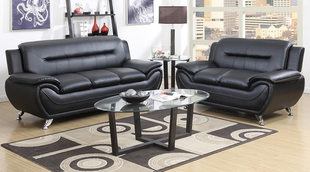 Black Sofa And Love Awesome Deal GTU 2701 Black Living