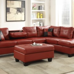 Leather Sectional Sofas Cheap Sleeper Sofa Nyc Red Faux 8077804 Price Busters Furniture