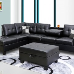 Cheap Black Leather Sectional Sofas 66 Rv Sofa Faux 8077801 Price Busters Furniture
